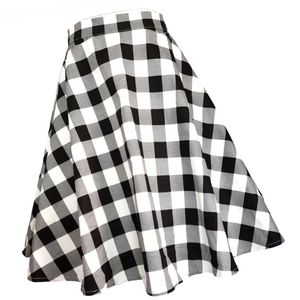 Dresses & Skirts - Plaid Pin Up Tartan Flared Swing Skirt